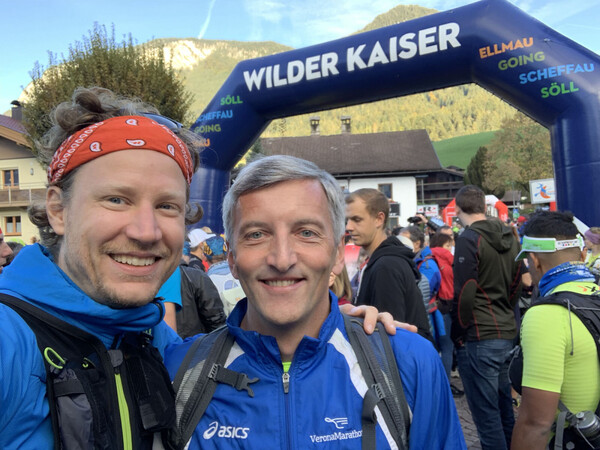 Jürgen and me about to run up some hills