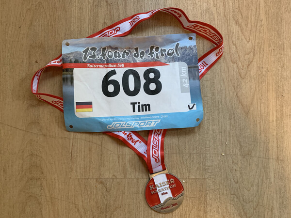 The memorabilia of this year's Kaisermarathon