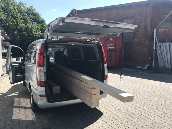 Buying 4 meter long timber reaches and surpasses the limits of my car