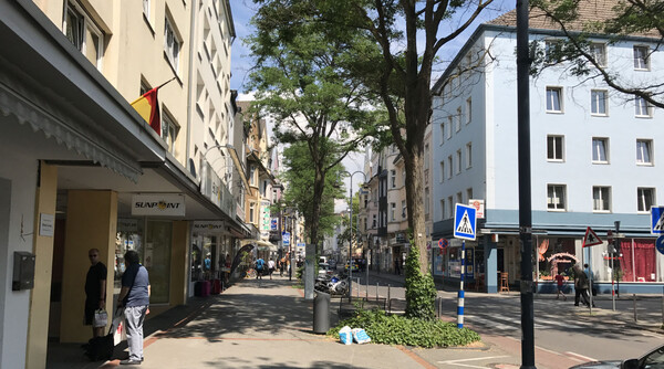 Walking through nearby city Leverkusen