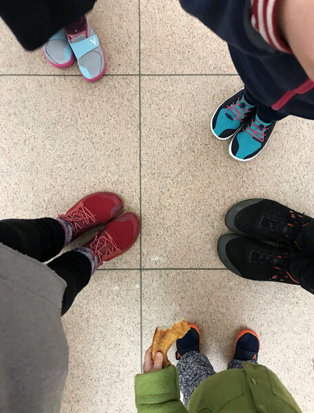 Before the trip we all upgraded our shoes to the amazing VivoBarefoot brand to be prepared for lots of walking