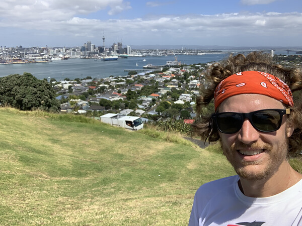 Twice I did just a 5k, but most runs were longer in order to explore the surroundings I found myself in. Like reaching this Devonport volcano top with an Auckland skyline view.