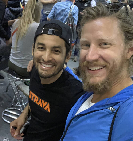 To my surprise, my buddy Angel was there, helping out at the Strava booth