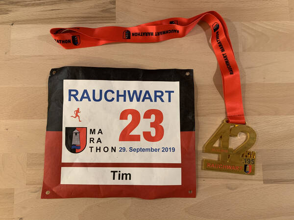 Medal and custom race number
