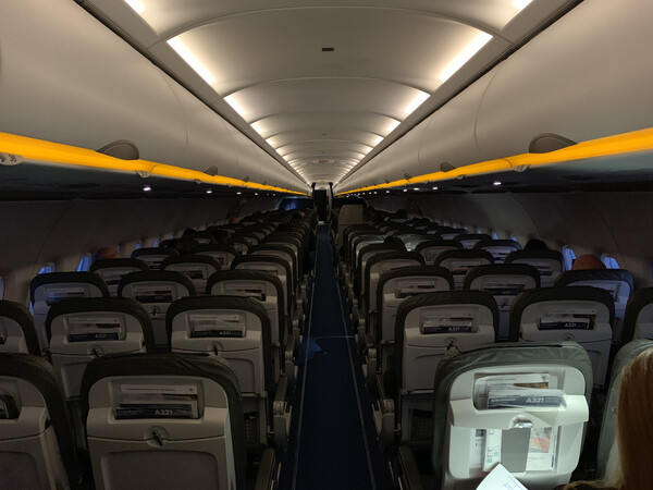 And so I got to sit in a nearly empty plane, which is nice.