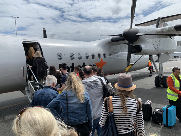 To go to New Plymouth from Auckland, a plane ride is recommended