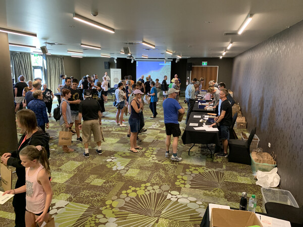 Registration happened in the newly built Novotel, New Plymouth