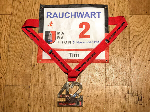 Medal and awesome racing number
