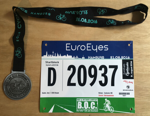 As always, my medal and number