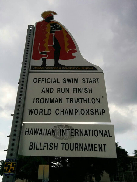 A week after my race, my friend Hodg was in Hawaii and took this photo