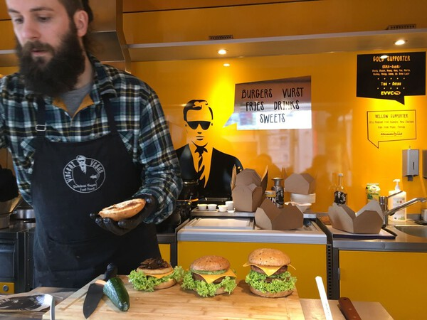 "Whenever I really want a burger, there are great options without animals available in my city. Like this hipster joint named ""Vincent Vegan""."